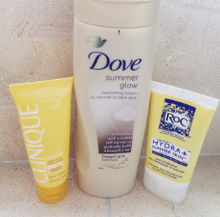 My summer skin products