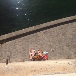 Sunbathers  in Paris