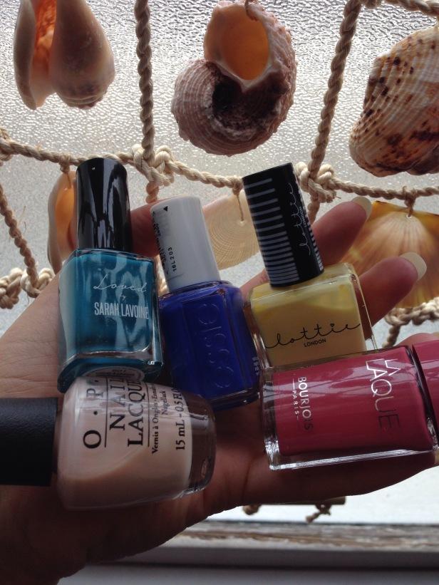 Favourite nail varnishes Bourjois, Lottie London, Essie, OPI