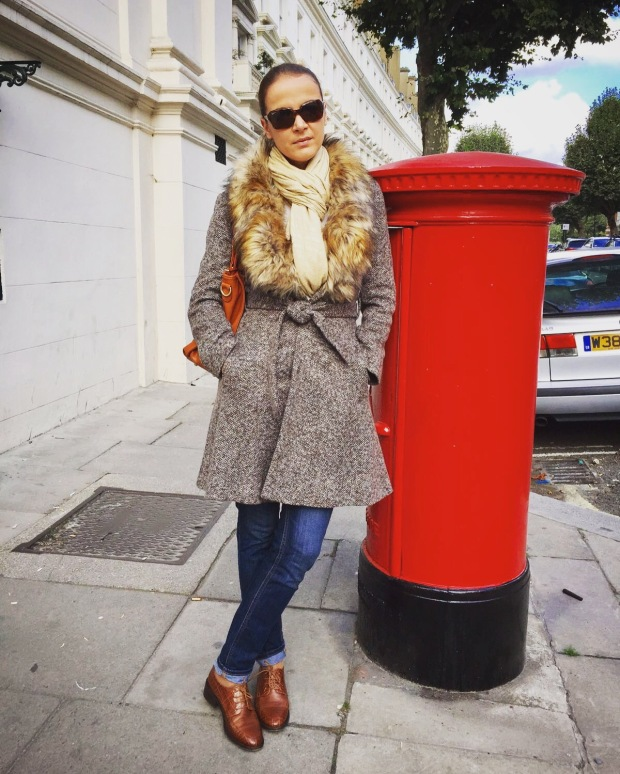 London autumn style outfit