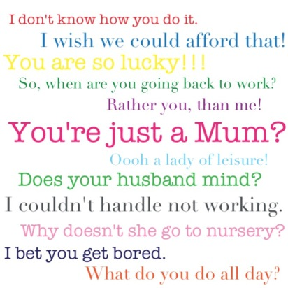 Image result for don't compare stay at home mums and working mums